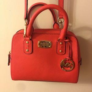 Michael Kors Small Satchel Mandarin Saffiano Bag